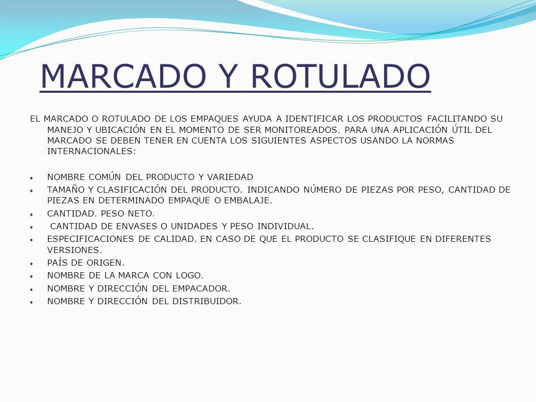 MARCADO Y ROTULADO