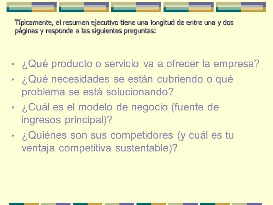 ¿Qué producto o servicio va a ofrecer la empresa