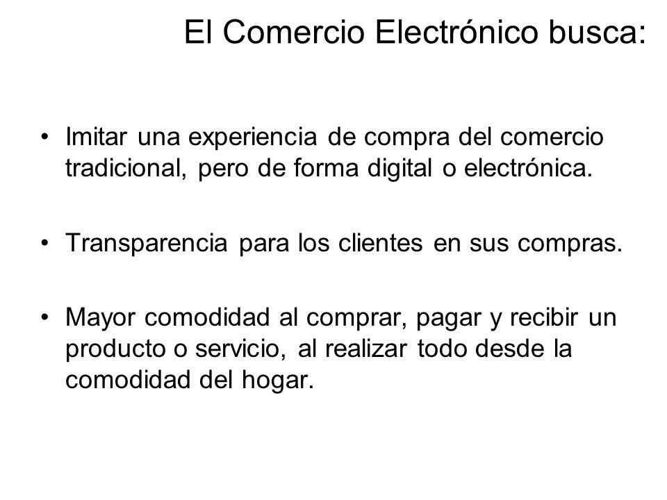 El Comercio Electrónico busca: