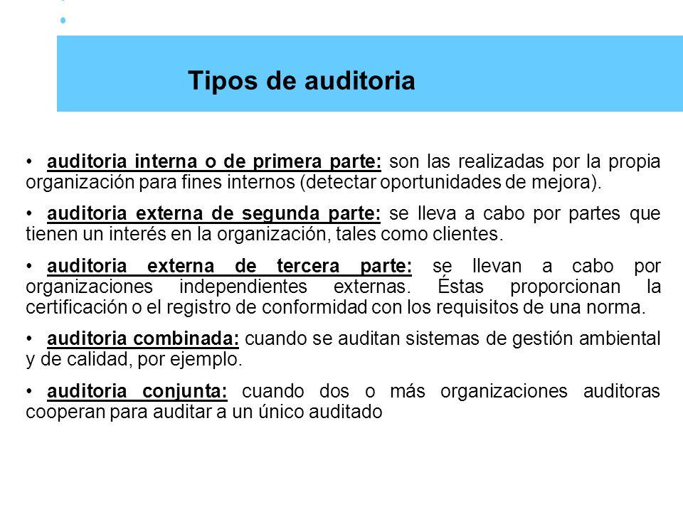 Tipos de auditoria