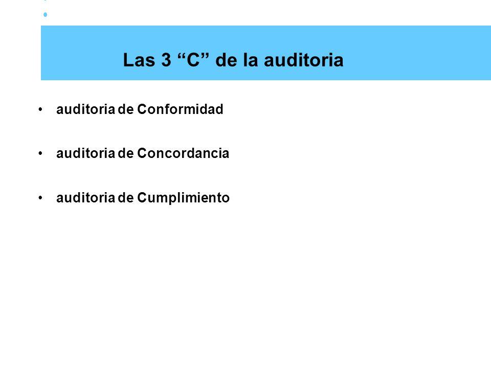 Las 3 C de la auditoria auditoria de Conformidad