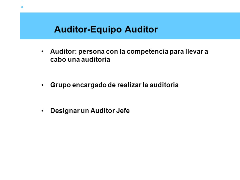 Auditor-Equipo Auditor