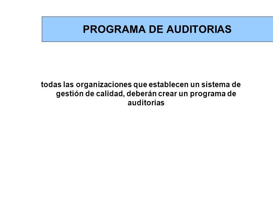 PROGRAMA DE AUDITORIAS