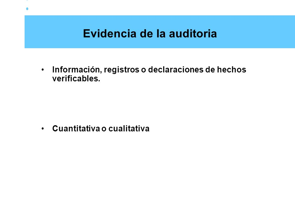 Evidencia de la auditoria