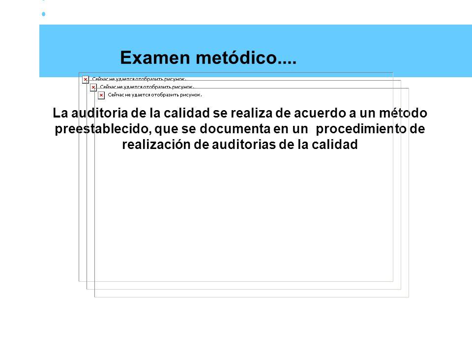 Examen metódico....