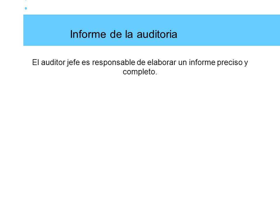 Informe de la auditoria