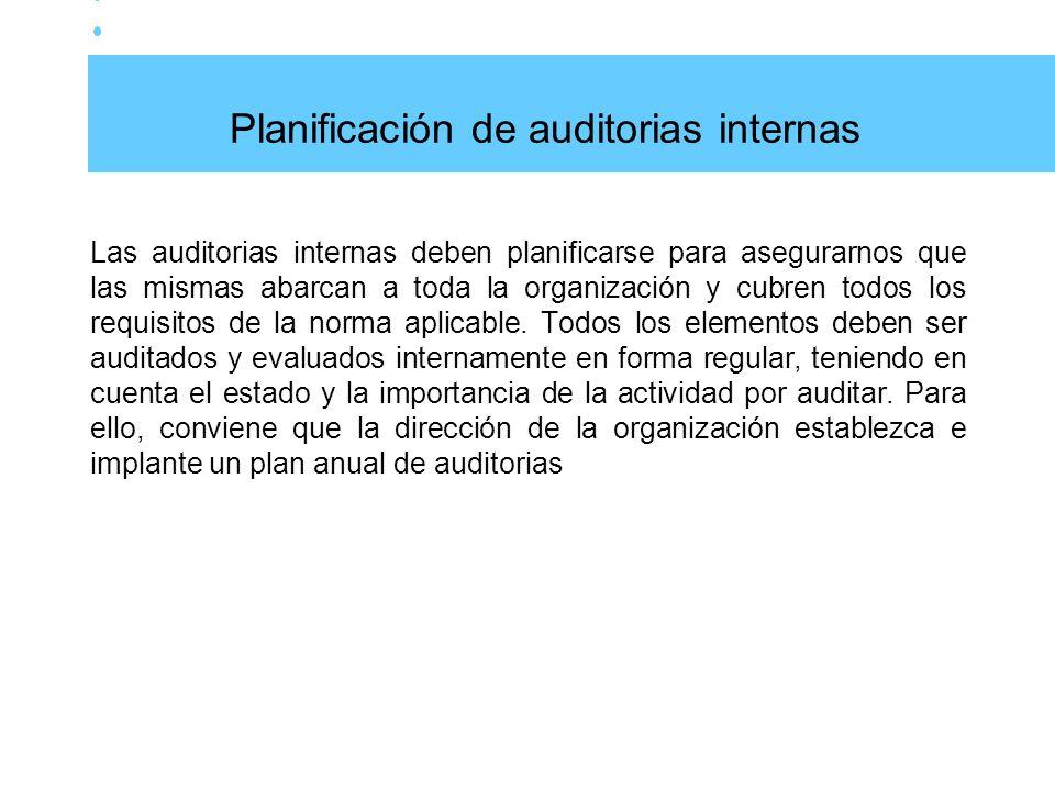 Planificación de auditorias internas