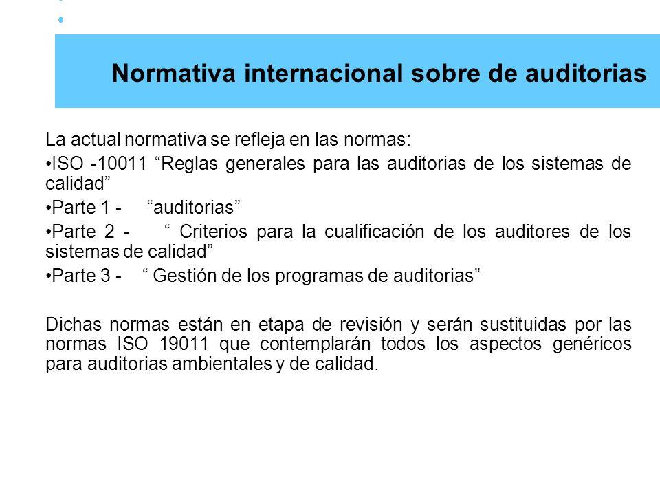 Normativa internacional sobre de auditorias