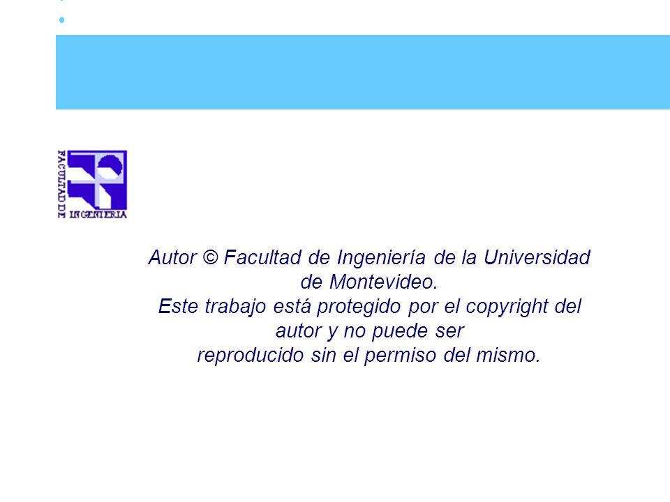 Autor © Facultad de Ingeniería de la Universidad de Montevideo.