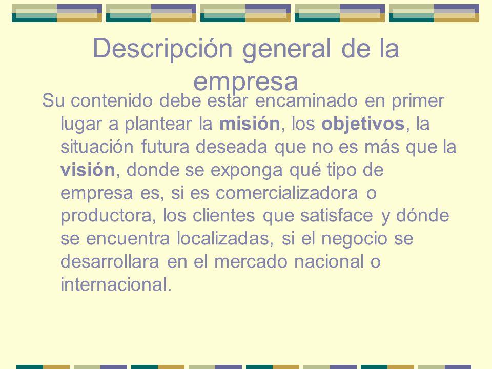 Descripción general de la empresa