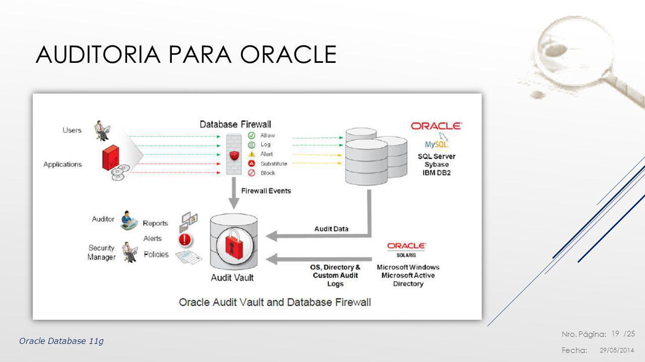 Auditoria para Oracle Oracle Database 11g