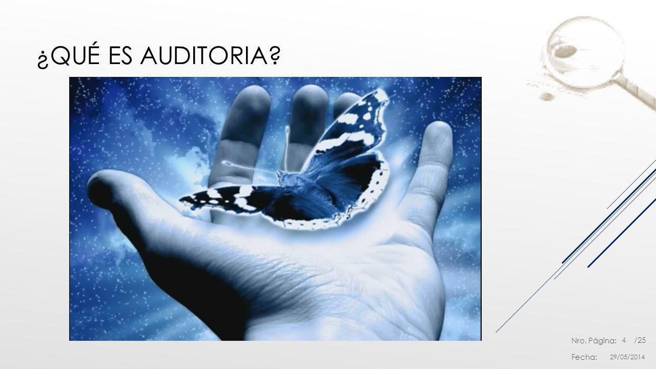 ¿Qué es auditoria 31/03/2017