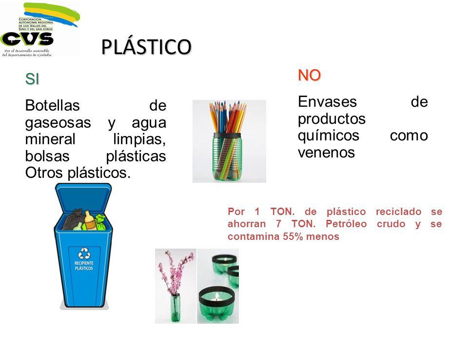 PLÁSTICO NO SI Envases de productos químicos como venenos