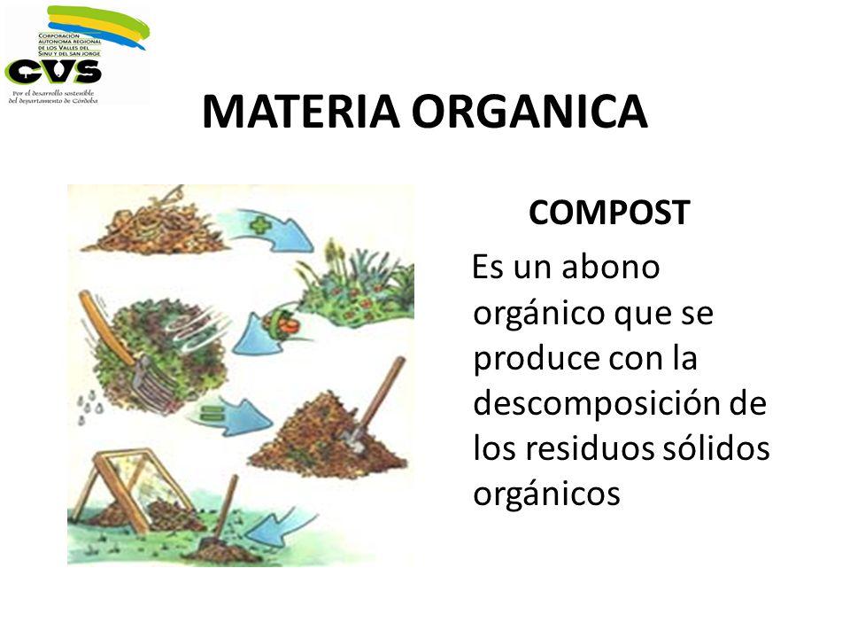 MATERIA ORGANICA COMPOST