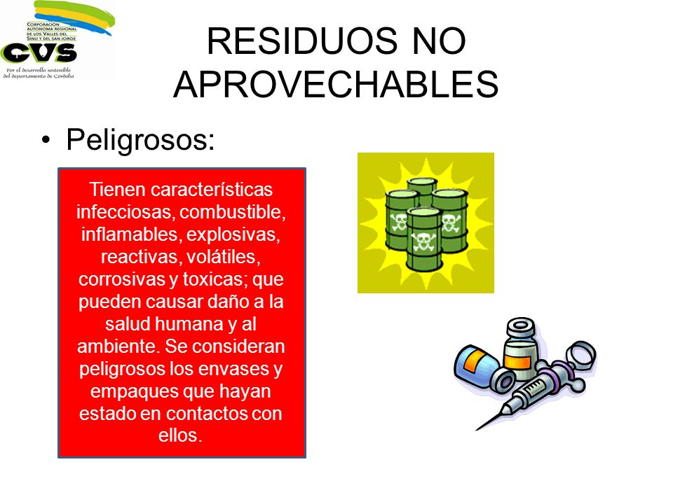 RESIDUOS NO APROVECHABLES