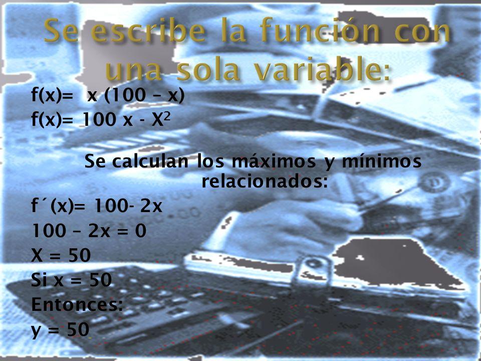 Se escribe la función con una sola variable: