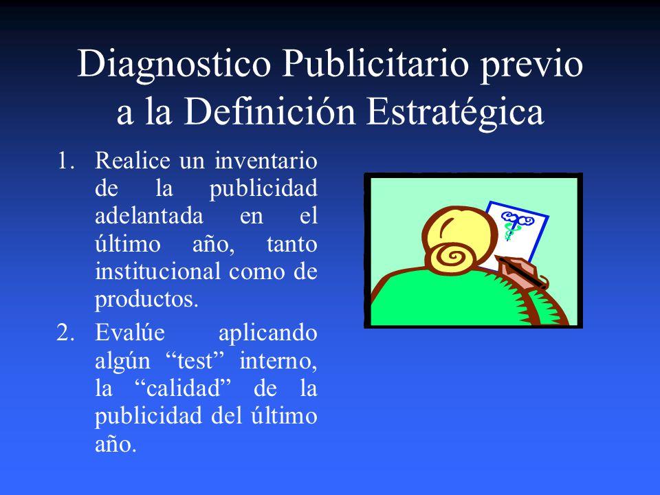 Diagnostico Publicitario previo a la Definición Estratégica