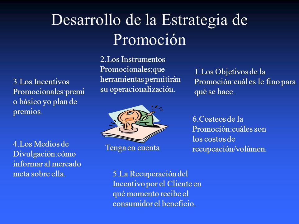 Desarrollo de la Estrategia de Promoción