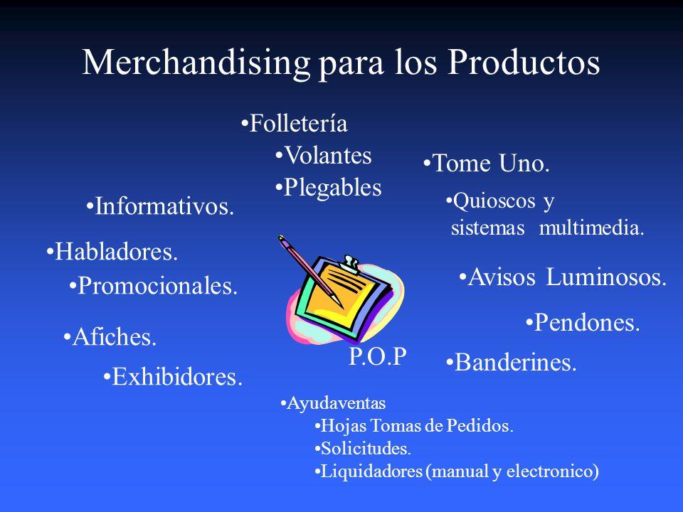 Merchandising para los Productos
