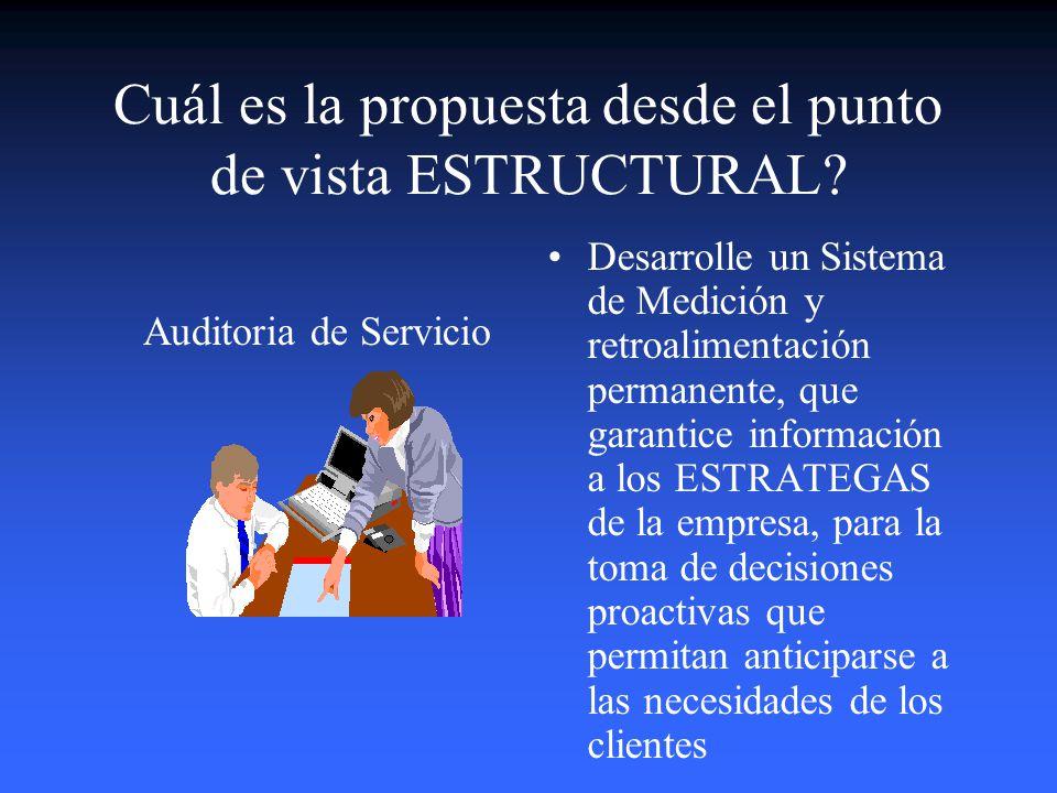 Cuál es la propuesta desde el punto de vista ESTRUCTURAL