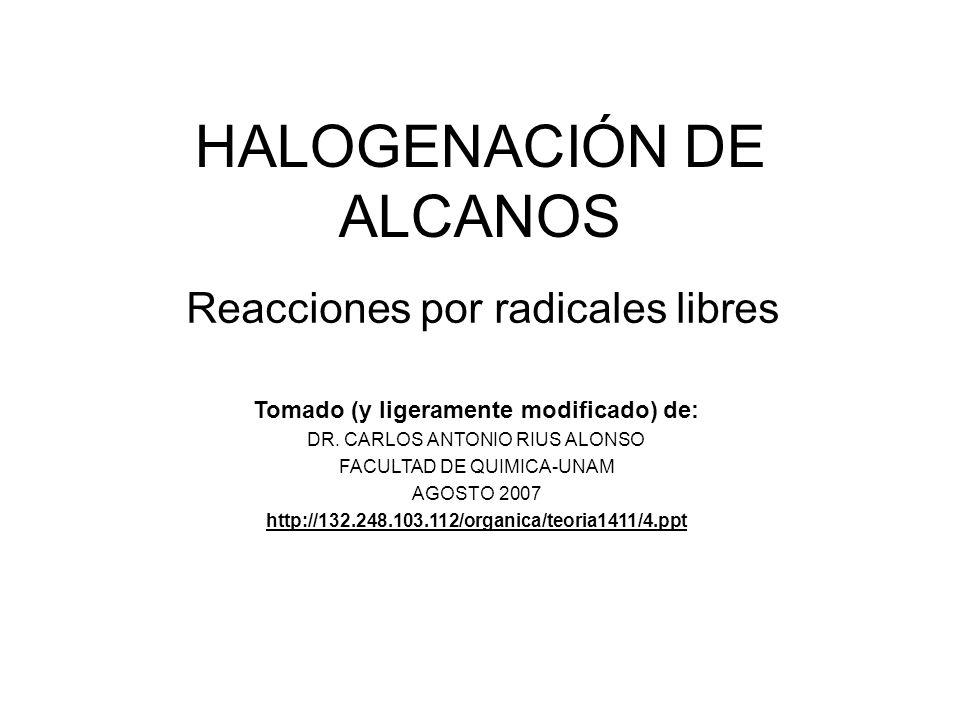 HALOGENACIÓN DE ALCANOS