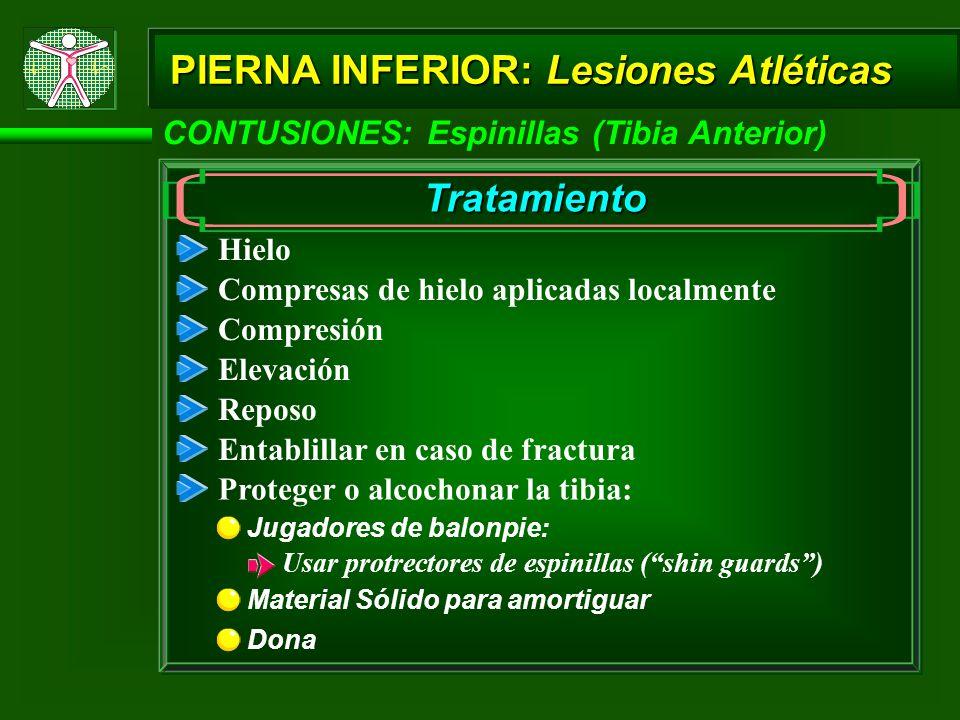 PIERNA INFERIOR: Lesiones Atléticas