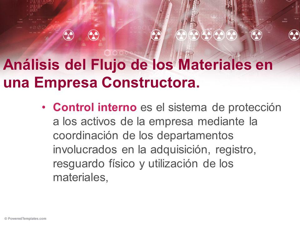 Análisis del Flujo de los Materiales en una Empresa Constructora.