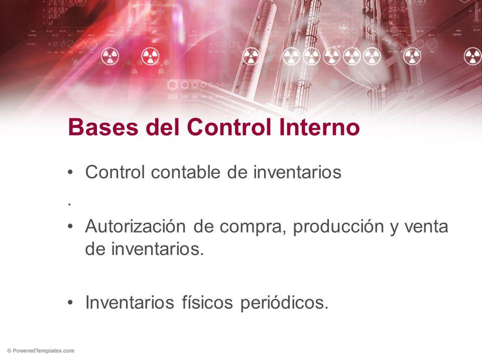 Bases del Control Interno