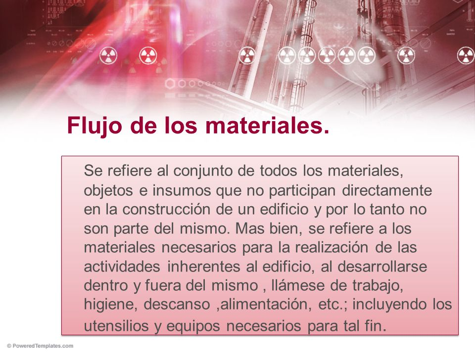 Flujo de los materiales.