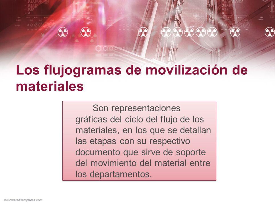 Los flujogramas de movilización de materiales