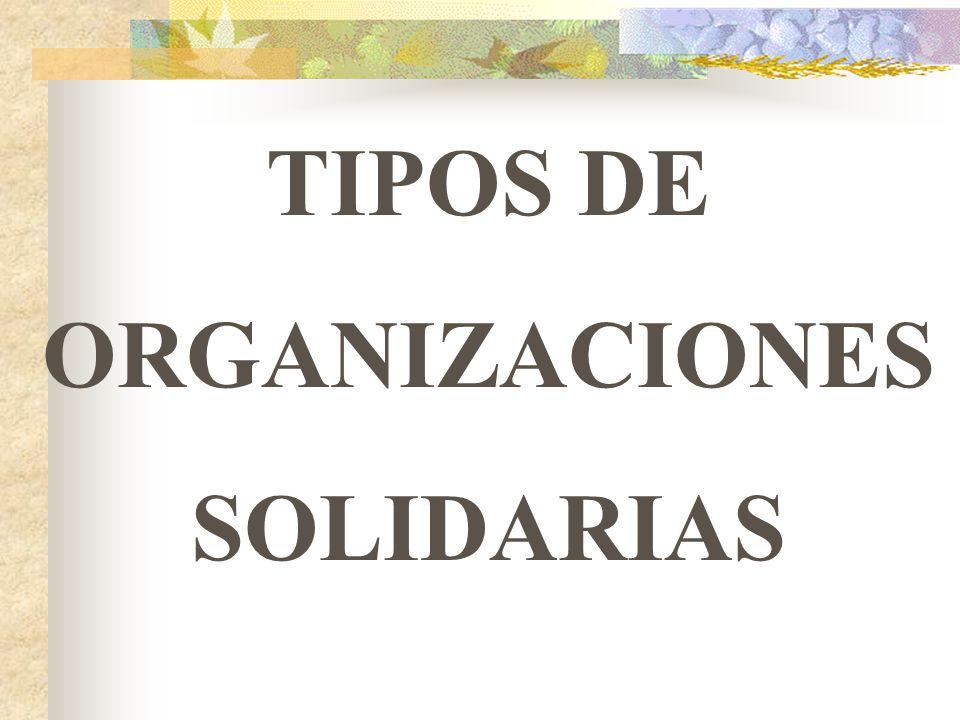 TIPOS DE ORGANIZACIONES SOLIDARIAS