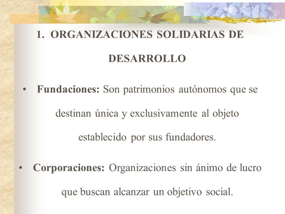 ORGANIZACIONES SOLIDARIAS DE DESARROLLO