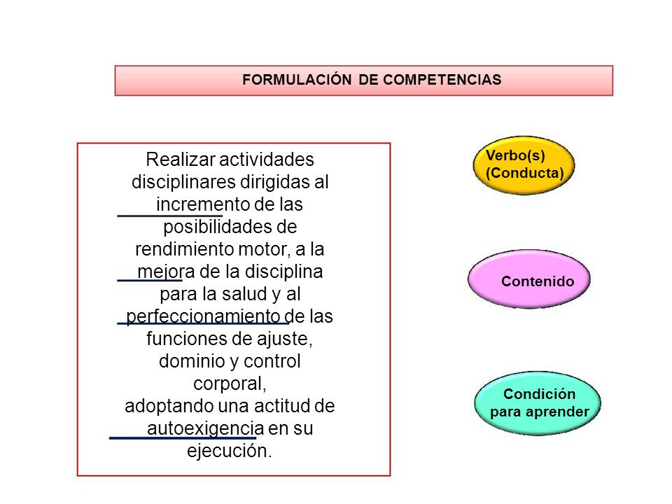 disciplinares dirigidas al incremento de las posibilidades de