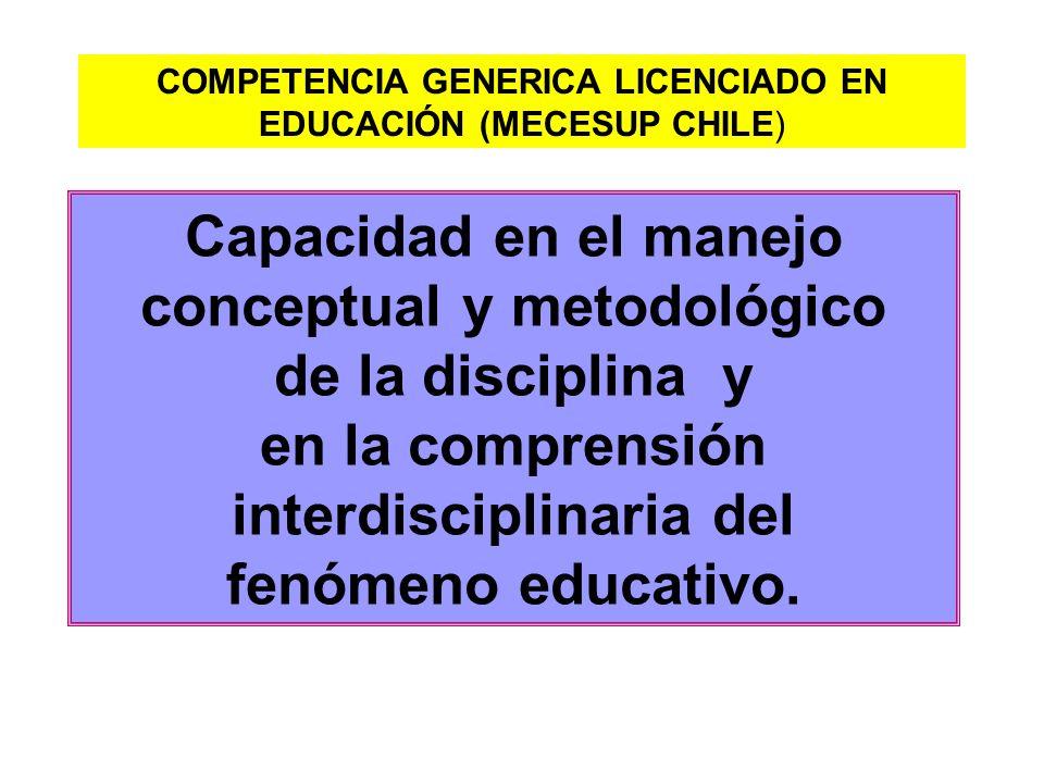 conceptual y metodológico interdisciplinaria del
