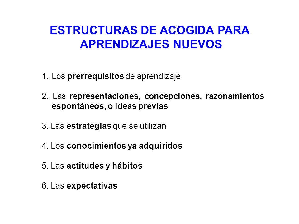 ESTRUCTURAS DE ACOGIDA PARA