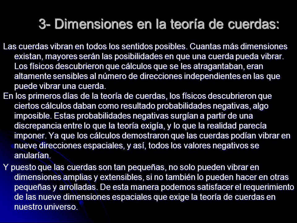 3- Dimensiones en la teoría de cuerdas: