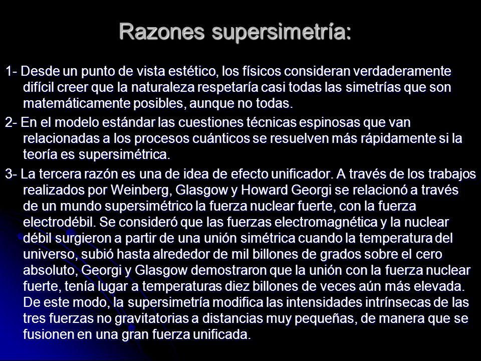 Razones supersimetría: