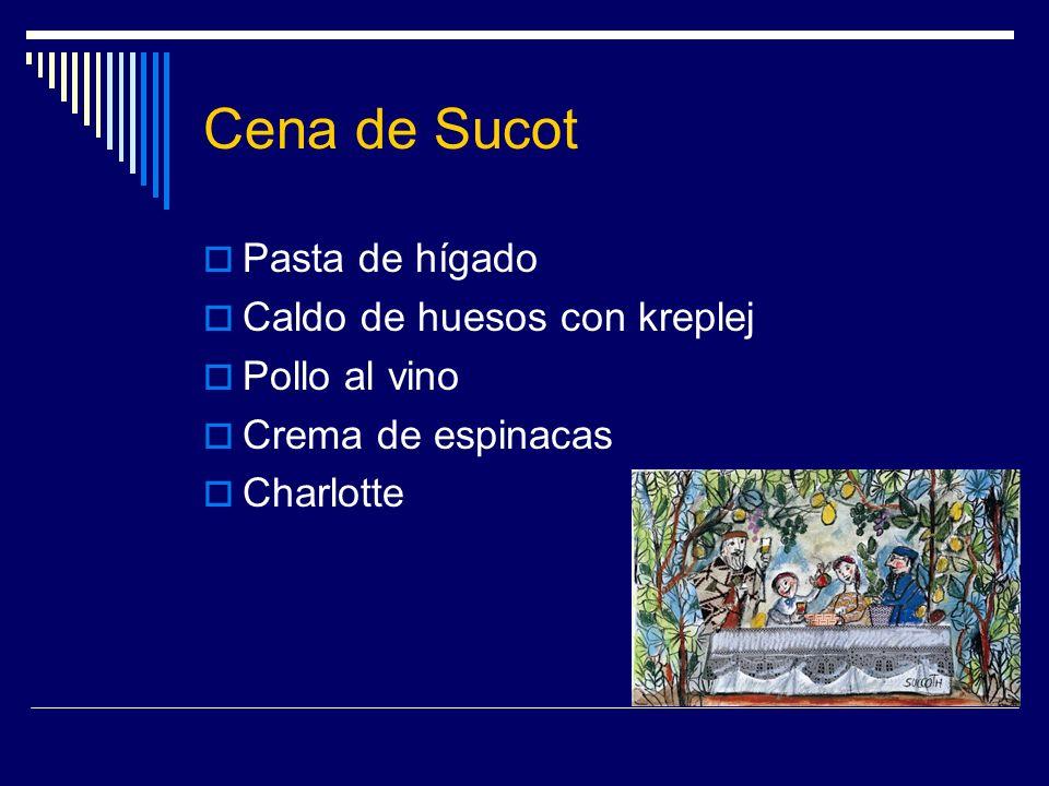 Cena de Sucot Pasta de hígado Caldo de huesos con kreplej