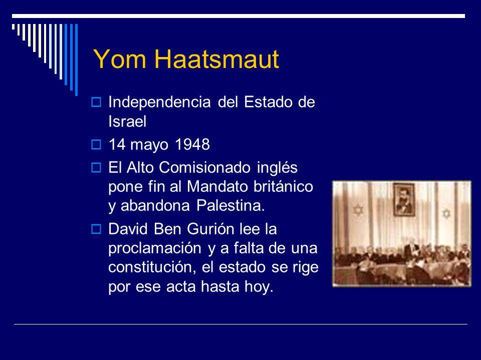 Yom Haatsmaut Independencia del Estado de Israel 14 mayo 1948