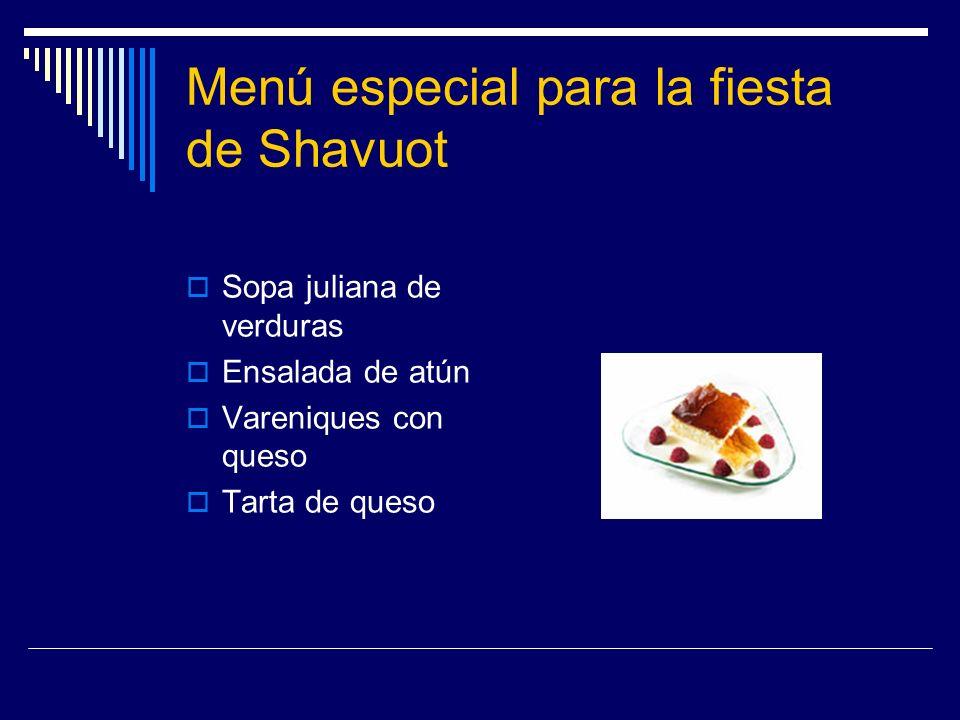 Menú especial para la fiesta de Shavuot