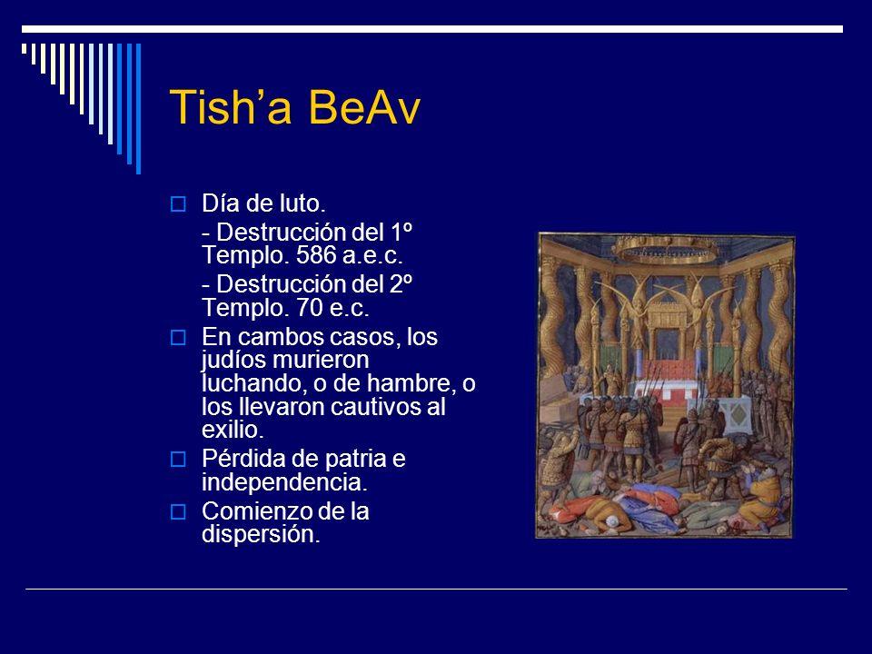 Tish'a BeAv Día de luto. - Destrucción del 1º Templo. 586 a.e.c.