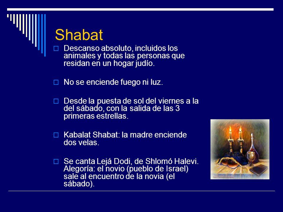 ShabatDescanso absoluto, incluidos los animales y todas las personas que residan en un hogar judío.