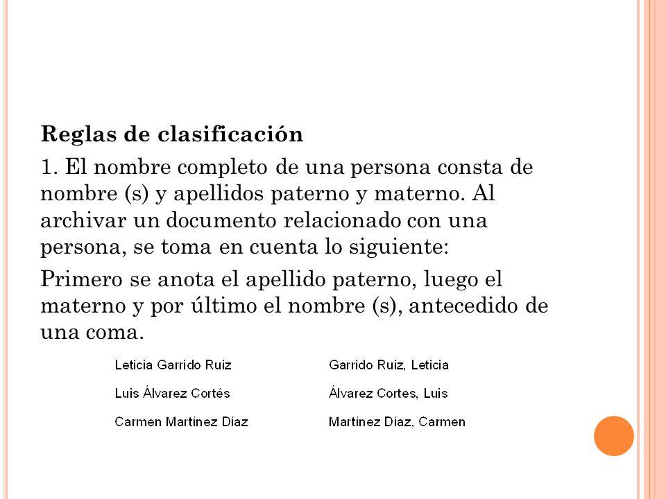 Reglas de clasificación 1