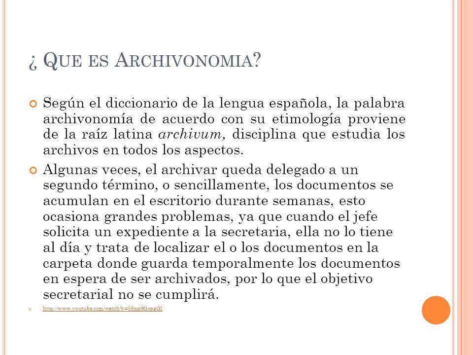 ¿ Que es Archivonomia