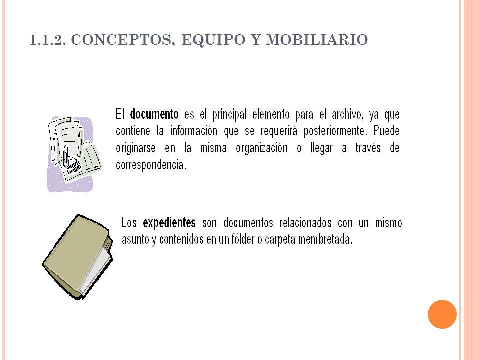 1.1.2. CONCEPTOS, EQUIPO Y MOBILIARIO