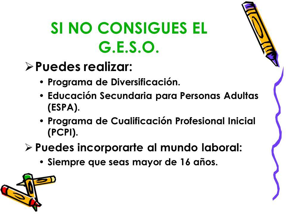 SI NO CONSIGUES EL G.E.S.O. Puedes realizar: