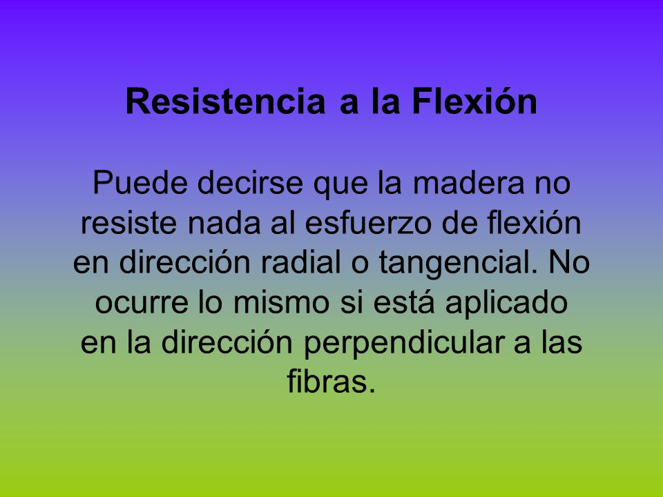 Resistencia a la Flexión