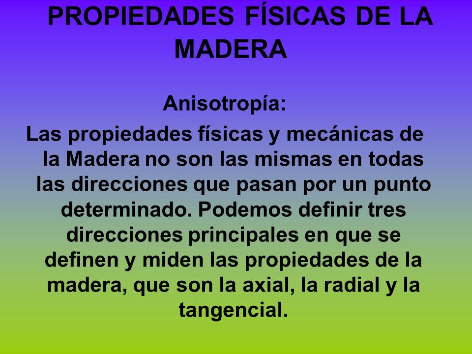 PROPIEDADES FÍSICAS DE LA MADERA