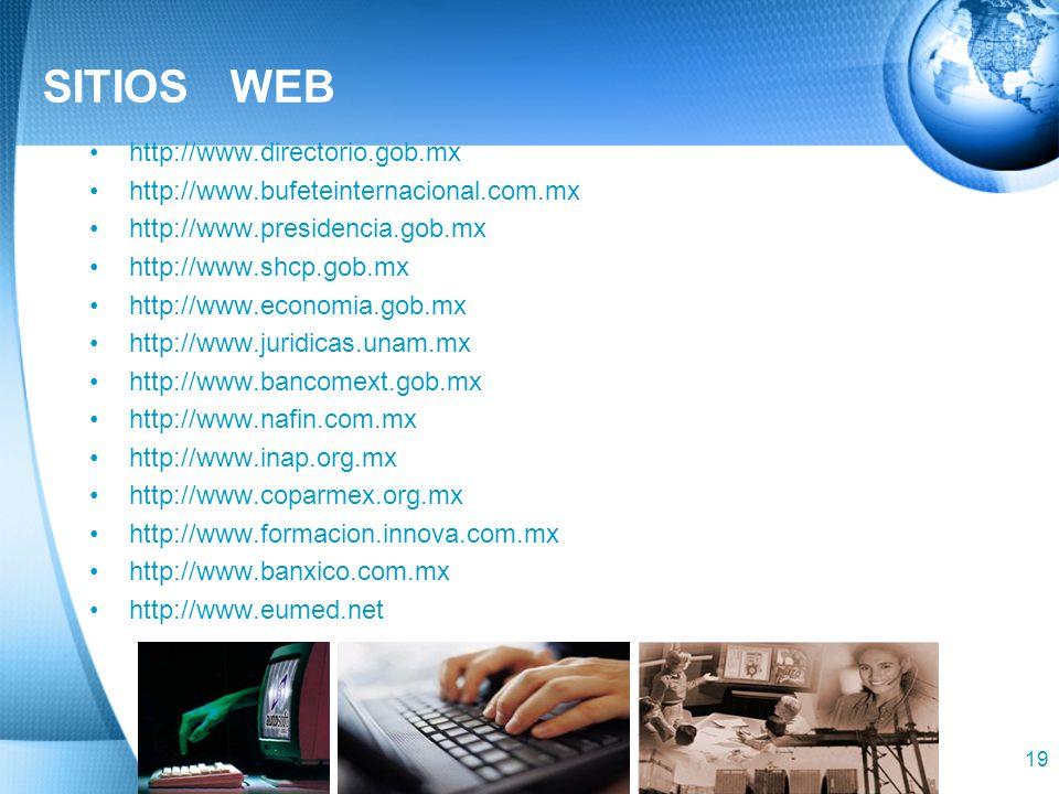 SITIOS WEB http://www.directorio.gob.mx