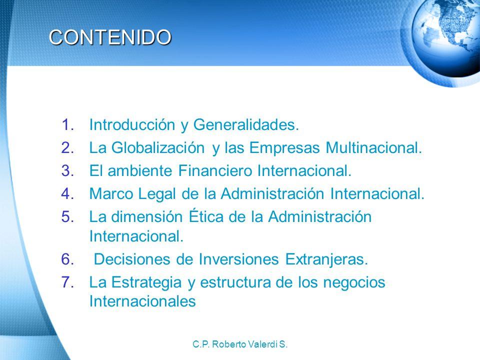CONTENIDO Introducción y Generalidades.